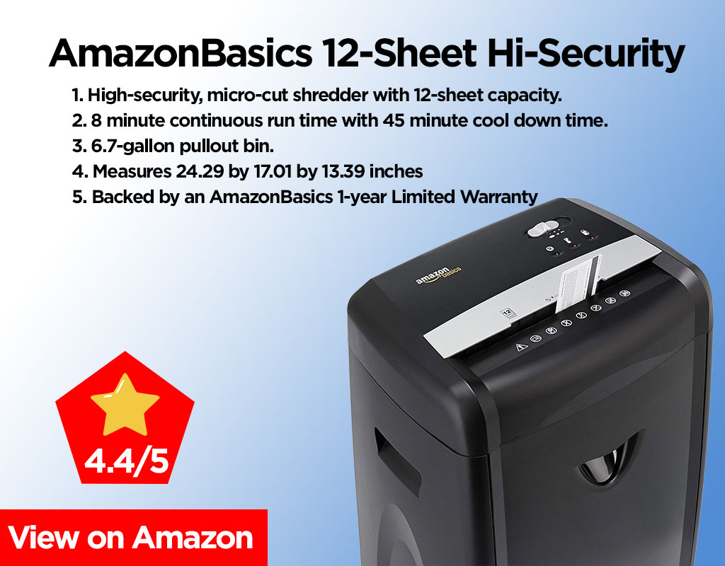 AmazonBasics-12-Sheet-High-Security Review